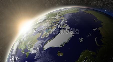 sun over arctic