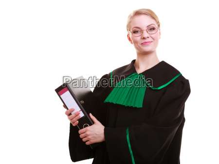 young female lawyer attorney wearing classic