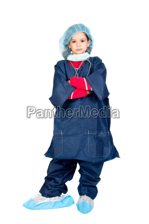 young girl doctor