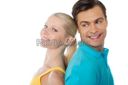 beautiful young couple in love posing