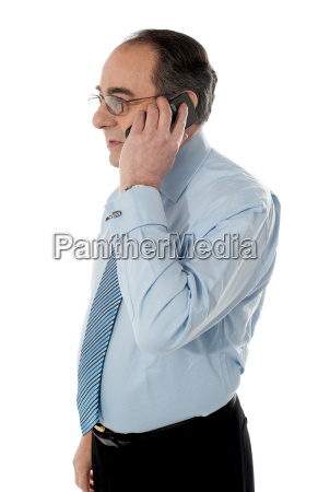 side view of a senior manager