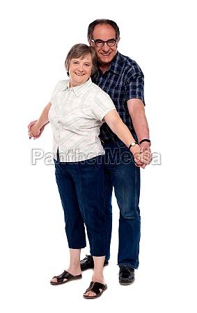 senior couple in love posing in