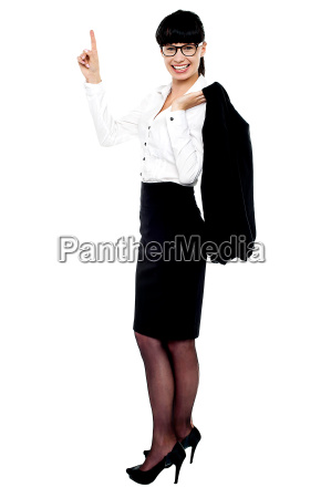 full length portrait of cheerful business