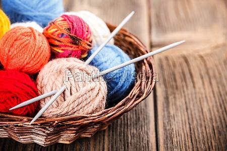 knitting yarn balls