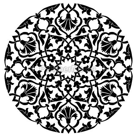 black oriental ottoman design twenty four