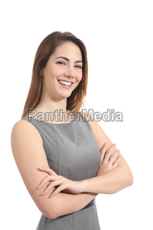 confident business woman posing with a
