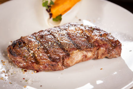 juicy grilled beef steak with homemade