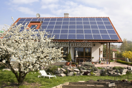 house with new solar module