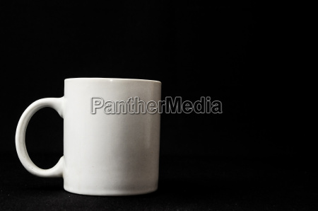 coffee cup isolated on black
