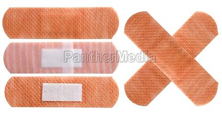 plasters set isolated on white background