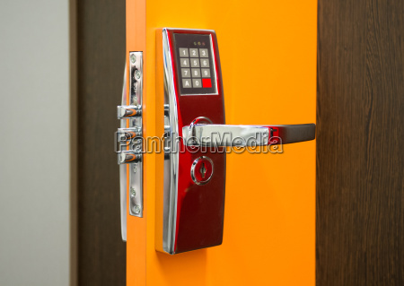 an electronic security door lock
