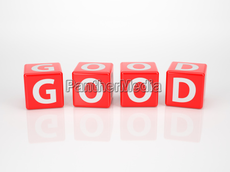 good out of red letter dices