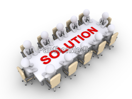 meeting of businessmen for the solution