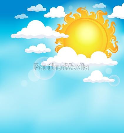 sun on sky theme image 1