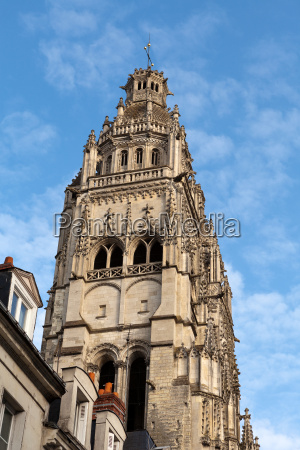 gothic cathedral of saint gatien in