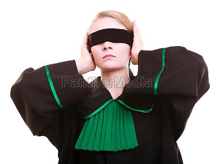 woman lawyer attorney in polish black