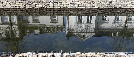 detmold seen berlebecke the moat from