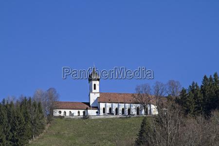 pilgrimage church on the hohenpeissenberg