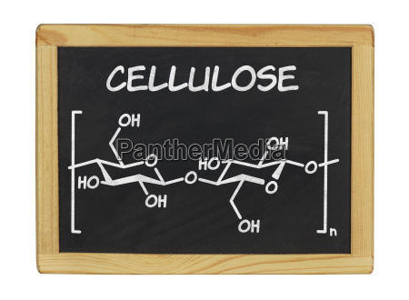 chemical structural formula of cellulose on