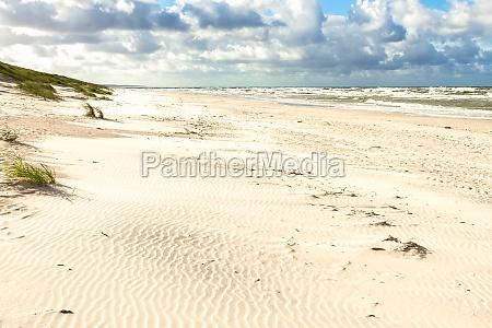 sand beach on the baltic sea