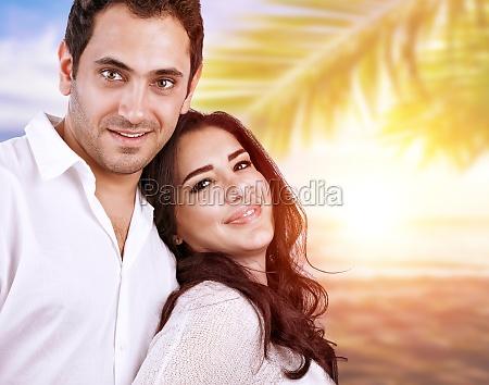 happy couple in honeymoon
