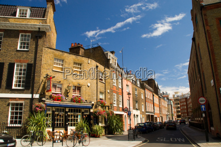 house london intersection quaint small narrow