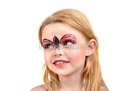 face painting ladybug