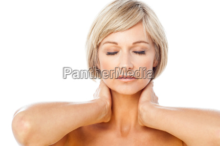 calm and beautiful spa lady with