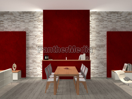 dining room with seating group and