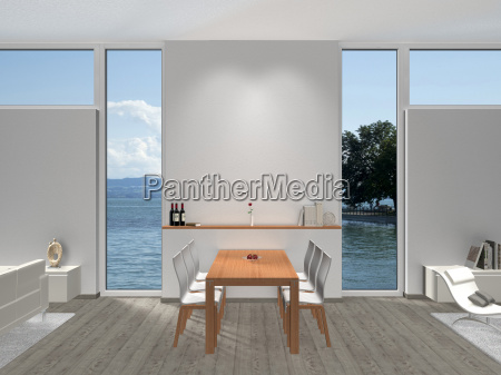 dining room with seating area and