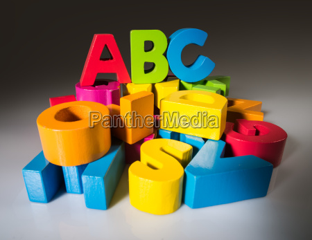 letters a b c made of