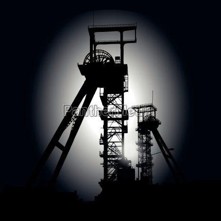winding towers at night