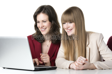 two women laptop