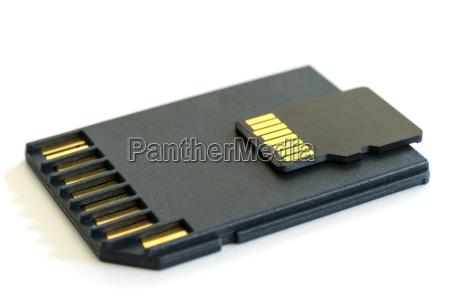 black microsd memory card and sd