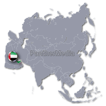 asia map with uae