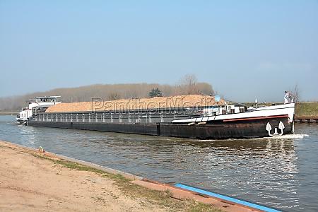 barge on the mittellandkanal