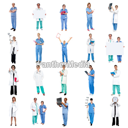 collage of medical specialists