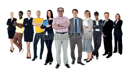 collage of several business people in