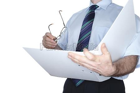 man with file folder
