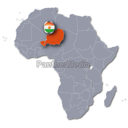africa map with niger