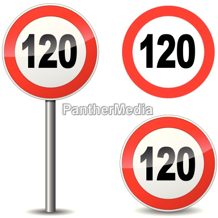 vector hundred twenty sign