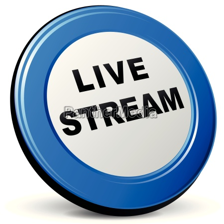 vector 3d live stream icon