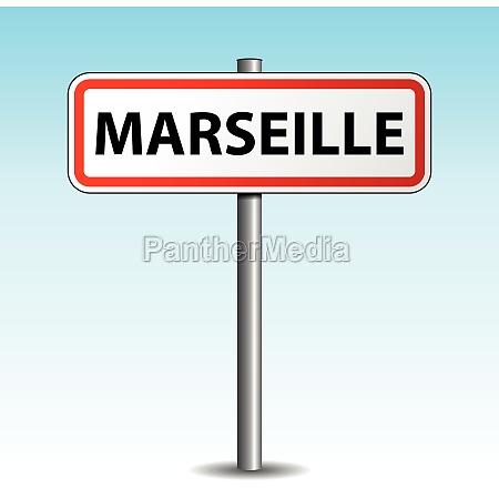 vector marseille signpost