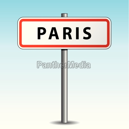 vector paris signpost