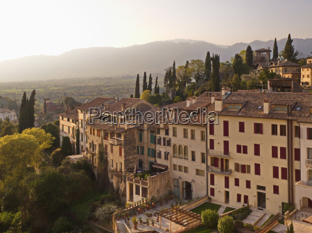 evening sun over asolo veneto