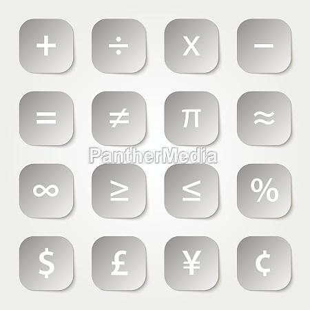 math financial symbols