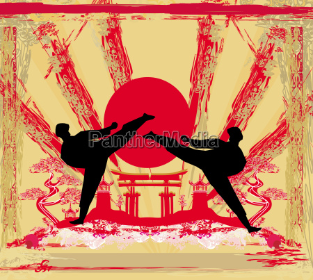 karate occupations grunge background