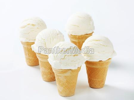 white ice cream cones