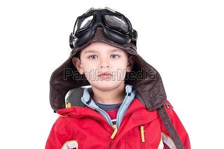 young boy aviator