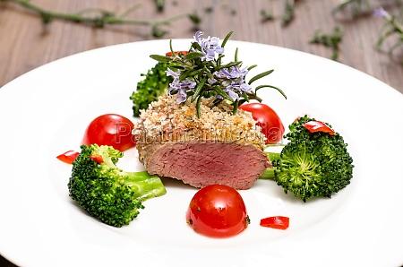 para el filete con brocoli
